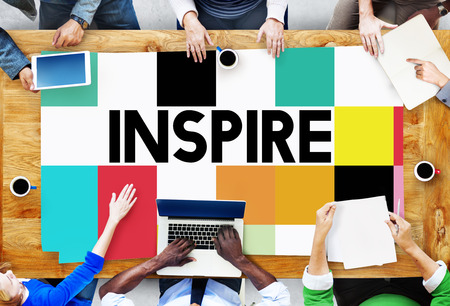 creative communication: Inspire Inspiring Inspiration Motivate Innovate Concept Stock Photo
