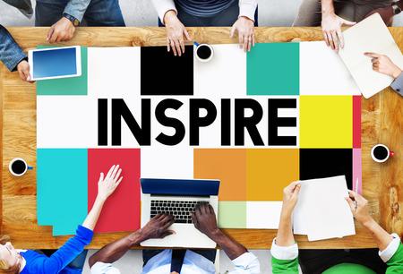 inspiration: Inspire Inspiring Inspiration Motivate Innovate Concept Stock Photo