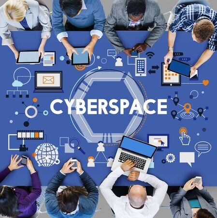 cyberspace: Cyberspace Globalization Connection Networking Technology Concept