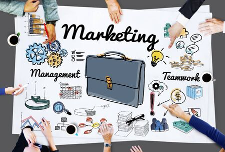 commercial: Marketing Commercial Advertising Plan Concept Stock Photo