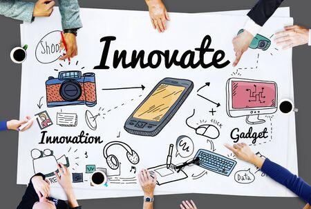 Innovate Innovation Invention Development Vision Concept Stock Photo