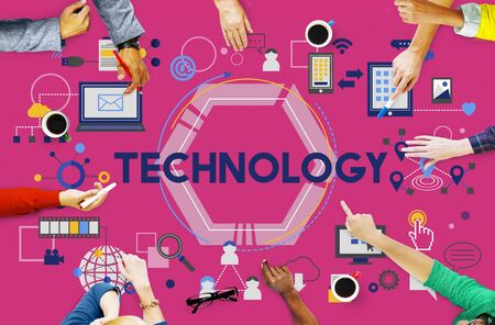 advanced technology: Technology Future Digital Media Innovation Concept