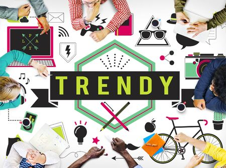 Trend Trendy Design Modern Style Fashion Latest Concept Stock Photo