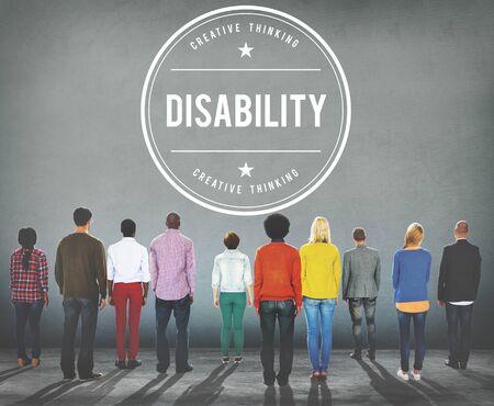 Trouble handicapé invalidité médicale mentale Concept spécial Banque d'images - 54233716