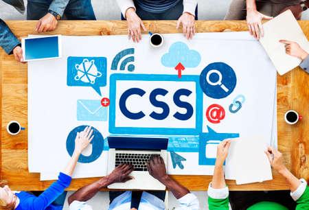 css: CSS Program Web Development Technology Concept Stock Photo