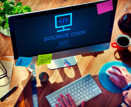 source code: Source Code Binary Data Internet Program Decode Concept
