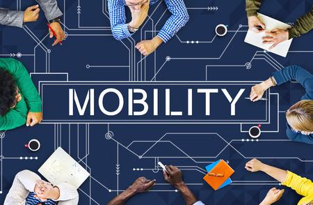 Movilidad Tecnología concepto de la comunicación en línea