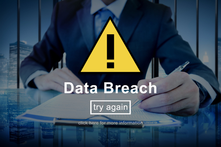 breach: Data Breach Warning Sign Concept