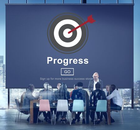 advancement: Progress Development Imrpovement Advancement Concept Stock Photo