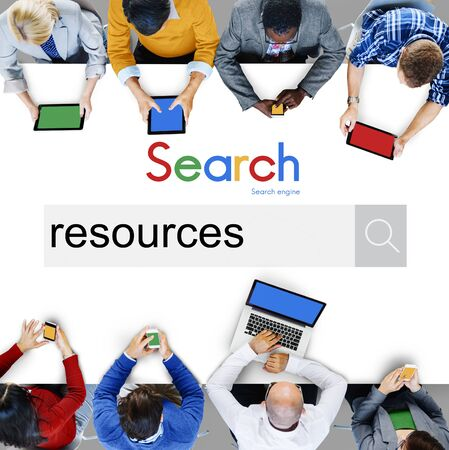 raw material: Resources Management People Raw Material Career Concept