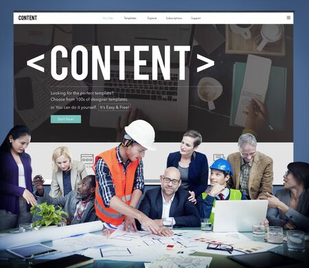 publication: Content Data Blogging Media Publication Concept