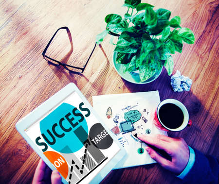 place of research: Success Mission Tarket Buisness Growth Planning Concept