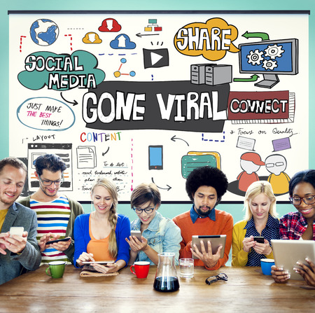 gone: Gone Viral Multimedia Internet Vrtual Content Concept Stock Photo