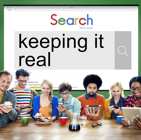 true self: Team Using Technology Browsing Search Working Concept Stock Photo