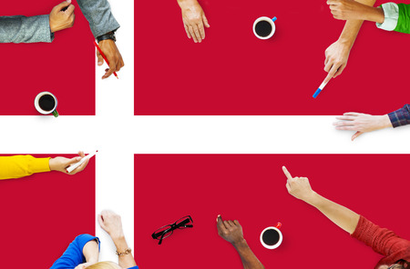 danish: Danish National Flag Government Freedom LIberty Concept Stock Photo