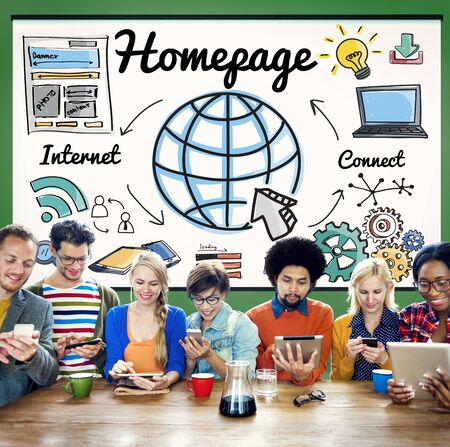 homepage: Homepage Global Communication Address Browser Concept