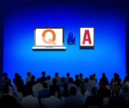 control de calidad: Q & A de información de ayuda de Respuesta Respuesta Concepto Explicación Foto de archivo