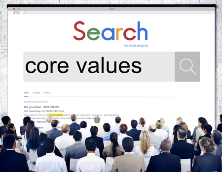 principles: Core Values Principles Purpose Goals Concept Stock Photo