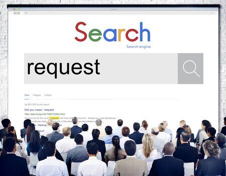 desire: Request Requirement Order Demand Desire Choice Concept