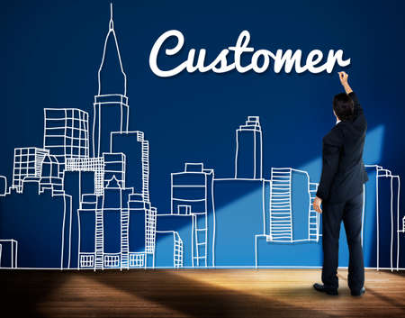 urban planning: Customer Consumer Business Marketing City Concept