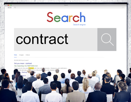 Audience with internet search of contract