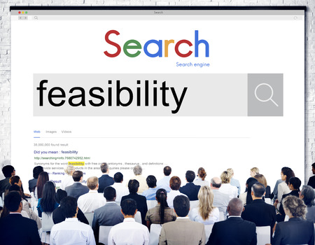 feasibility: Feasibility Analysis Planning Possibility Potential Concept Stock Photo