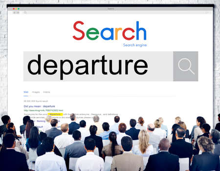departing: Departure Departing Depart Going Leaving Travel Concept Stock Photo