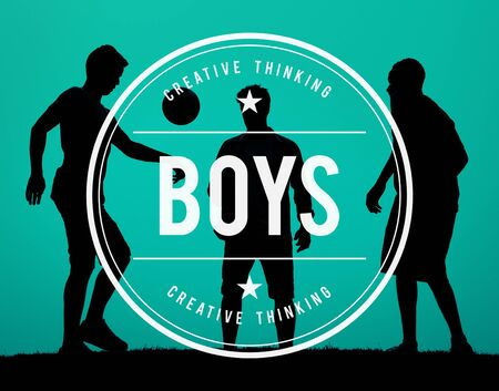 buddies: Boys Male Young Youth Children Buddies Concept Stock Photo