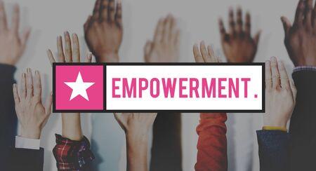 inspire: Empowerment Motivate Inspire Lead Concept Stock Photo