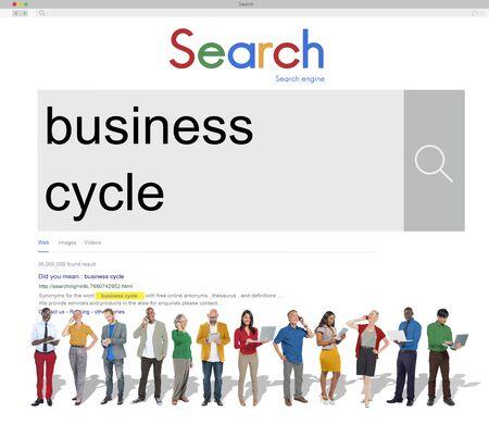 perdidas y ganancias: Business Cycle Growth Recession Success Loss Profit Concept