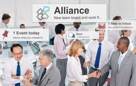 merge: Alliance Merge Partnership Collaboration Concept