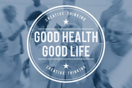 buena salud: Good Health Good Life Lifestyle Nutrition Exercise Concept