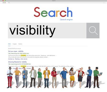 Visibilité Vision Apparence Exposition Perspicacité Clarity Concept Banque d'images