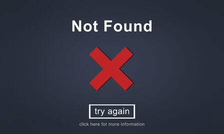 found: Not Found Error Data Internet Online Technology Concept