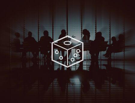 gamble: Dice Gamble Tossing Betting Casino Luck Game Concept Stock Photo