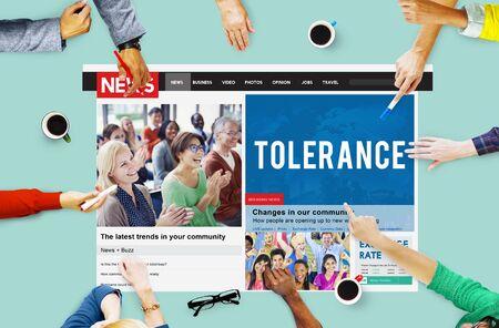 tolerate: Tolerance Acceptance Perspective Tolerate Toleration Concept Stock Photo