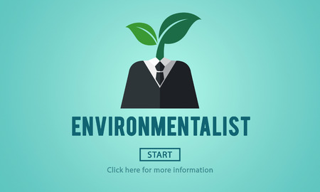 environmentalist: Environmentalist Ecologist Nature Conservationist Concept