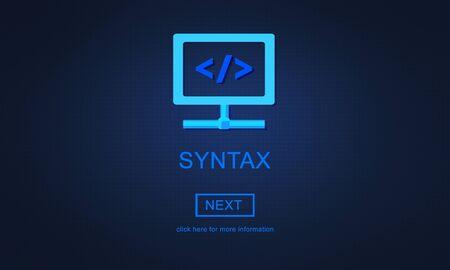 syntax: Syxtax Complex Development Software Program Concept Stock Photo