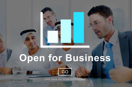 business for the middle: Open for Business Partnership Industry Concept
