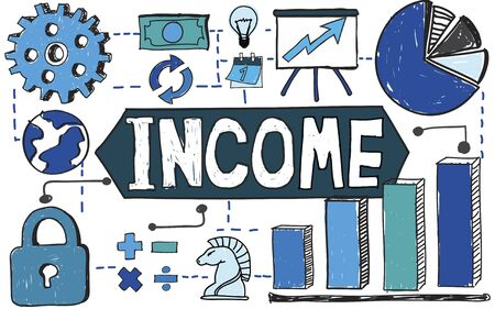 additional compensation: Income Finance Cash Salary Payment Concept