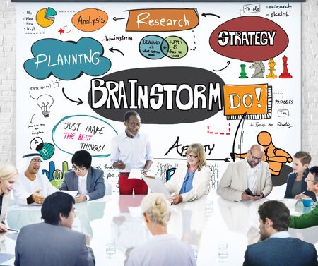 asian business group: Brainstorming Analysis Planning Sharing Meeting Concept