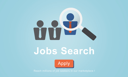 the applicant: Jobs Search Applicant Career Employment Hiring Concept Stock Photo