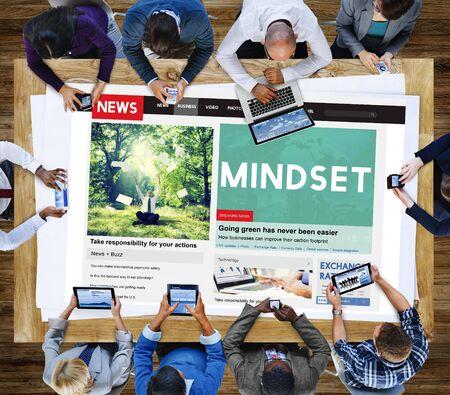 positive thinking: Mindset Positive Thinking Spiritual Attitude Concept Stock Photo