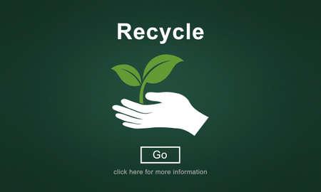 environmentally friendly: Recycle Reuse Environmentally Friendly Ecology Concept Stock Photo