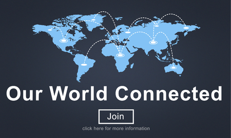 connected: Our World Connected Networking Link Concept Stock Photo