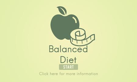 alimentacion balanceada: El concepto de nutrici�n equilibrada dieta saludable opci�n Selecci�n Foto de archivo
