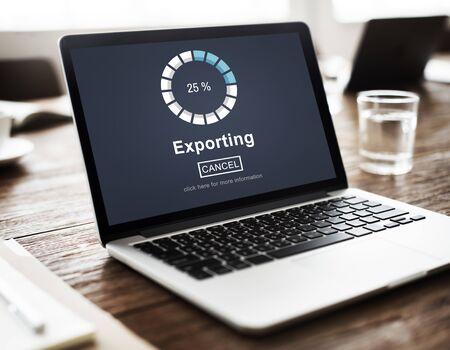 convert: Exporting Convert Loading Progress Concept