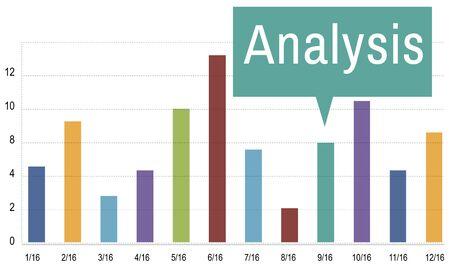 reseach: Analysis Analytics Graph Growth Statistics Concept Stock Photo