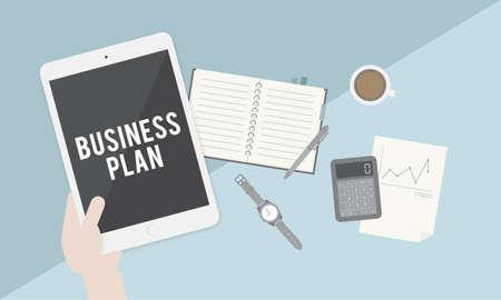 tactics: Business Plan Vision Strategy Tactics Planning Concept