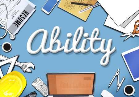 credential: Ability Strength Office Desk Graphic Concept